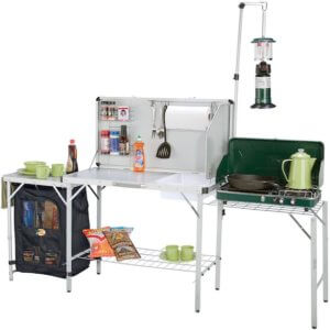 This camping gift photo shows the Bass Pro Shops Deluxe Camp Kitchen.