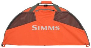 This fly fishing gift idea photo shows the Simms Taco Bag for changing into and out of fishing waders.
