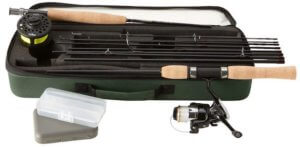 This fishing gift shows an image of the L.L.Bean Spin/Fly Combo Outfit rod and reel set.
