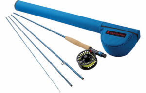 This fishing gift photo shows the Redington Crosswater rod and reel combo outfit.