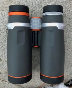 This photo shows the back side of the Maven B.1 Binocular.