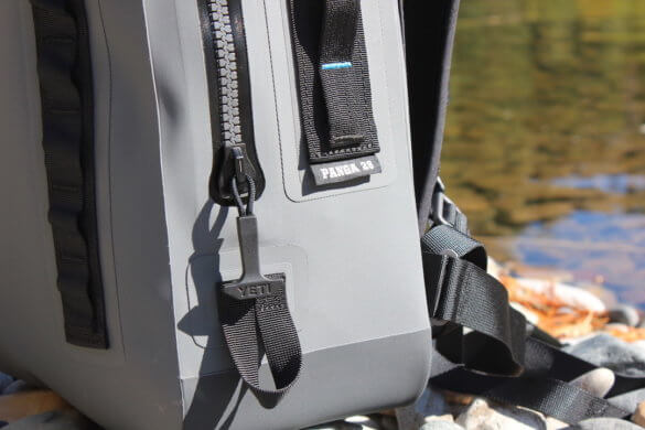 This photo shows the YETI Panga Backpack 28 waterproof zipper.