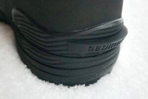 This photo shows the heel step on the Redington PROWLER-PRO wading boots.