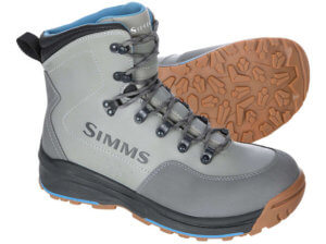 This photo shows the best saltwater wading boot, which is the Simms FreeSalt Wading Boot.