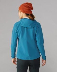 This photo shows the REI Co-op Activator Soft-Shell Jacket women's version.