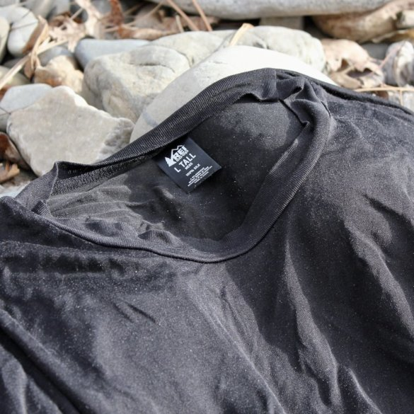 This photo shows the REI Co-op Silk Long Underwear Crew Shirt.