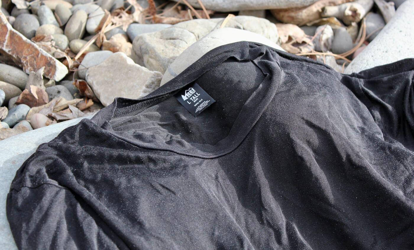 This photo shows the REI Co-op Silk Long Underwear Crew Shirt.