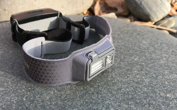This review photo shows the BioLite HeadLamp 330 rechargeable headlamp.