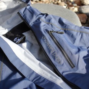 This review photo shows a closeup of the Showers Pass Refuge Jacket.