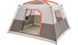 This best camping tents photo shows the Bass Pro Shops Eclipse 6 Person Cabin Tent.