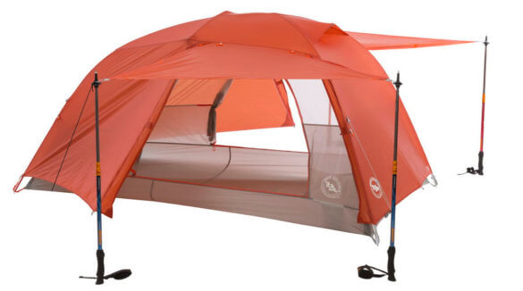 This backpacking tent photo shows the Big Agnes Copper Spur HV UL2 Tent.
