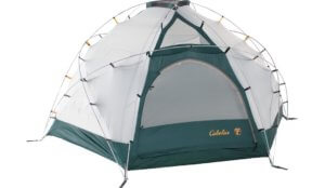 This photo shows the Cabela's Alaskan Guide Model Geodesic 8-Person Tent.