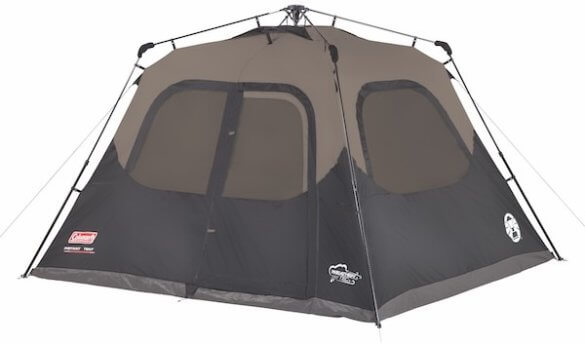 This photo shows the Coleman Cabin Tent with Instant Setup.