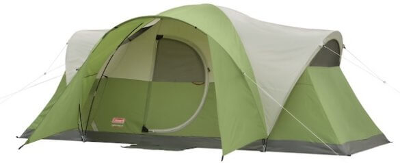 This photo shows the Coleman 8-Person Tent for camping.