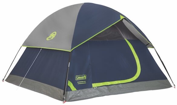 This camping tent photo shows the Coleman Sundome Tent.