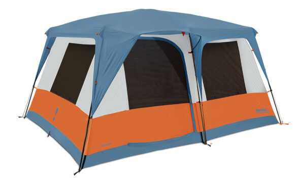 This best camping tents photo shows the Eureka Copper Canyon LX 8-person tent.