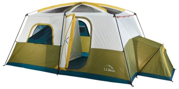 This best tents photo shows the L.L.Bean Arcadia 8-Person Cabin Tent.