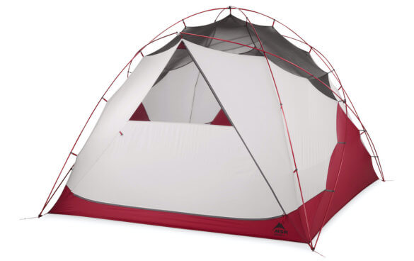 This photo shows the MSR Habitude 6 Tent.