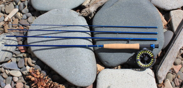 This review photo shows a 5-weight, 9-foot Redington Crosswater Combo fly fishing outfit.