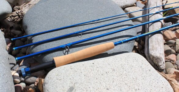 This review photo shows the 4-piece 9-foot, 5-weight Redington Crosswater Fly Rod.