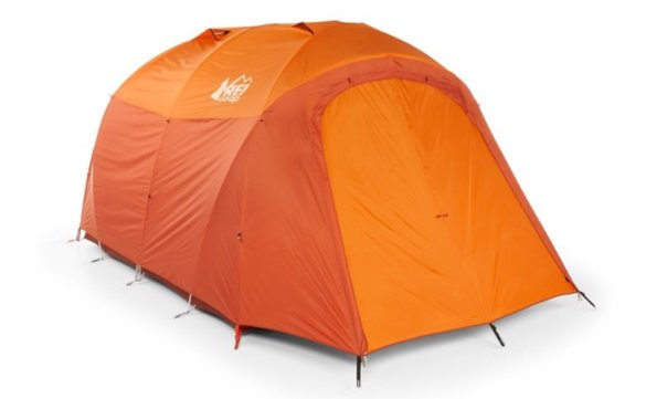 This best camping tents photo shows The REI Co-op Kingdom Tent setup with the rainfly on.