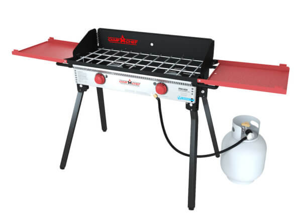 This photo shows the Camp Chef Pro 60X Two-Burner Stove.