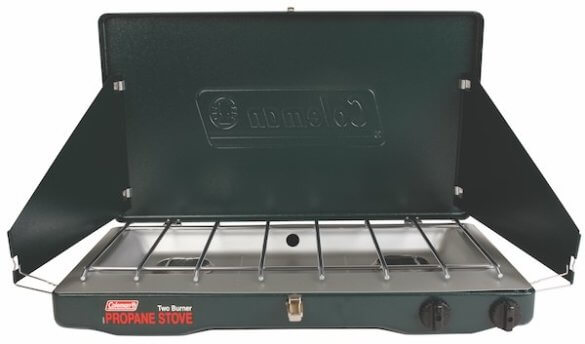 This best camping stoves photo shows the Coleman Classic Propane Stove.
