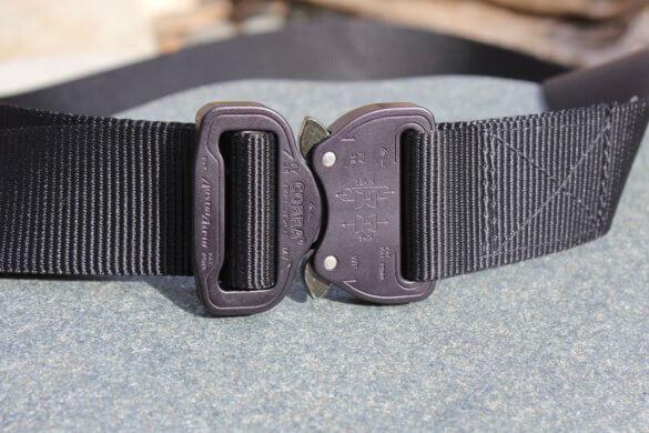 This review photo shows a Klik Belts Klik Belt buckle closed.