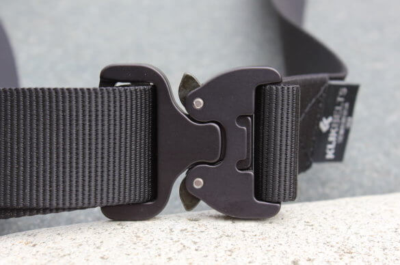 This review photo shows the backside of a Klik Belt.
