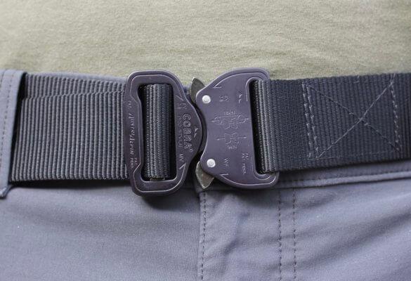 This photo shows a Klik Belt being worn.