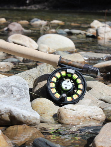 This photo shows the Orvis Recon Fly Rod with the Orvis Hydros Fly Reel.