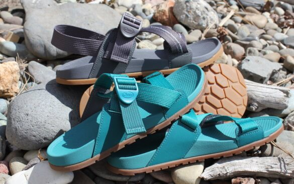 This review photo shows the Chacos Lowdown Sandal and Lowdown Slide.