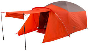 This photo shows the Big Agnes Bunkhouse 4 Tent.