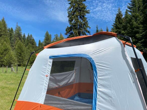 This review photo shows the Eureka! Copper Canyon LX 6 Tent setup without the rain fly.