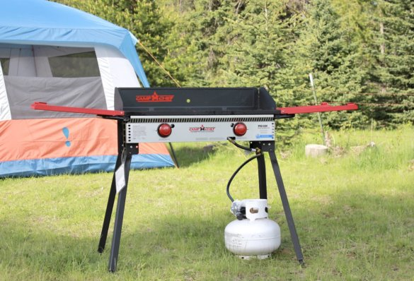 This photo shows the Camp Chef Pro 60X at a camping site.