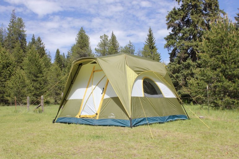 This photo shows the L.L.Bean Acadia 6-Person Camping Tent.