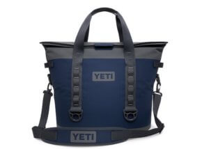 This cooler product photo shows the YETI Hopper M30 cooler.