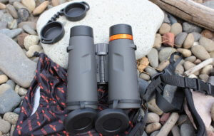 This photo shows the rear of the Maven C.1 binoculars.