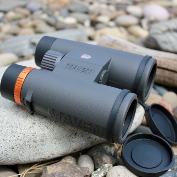 This review photo shows the 10x42 Maven C.1 Binoculars.