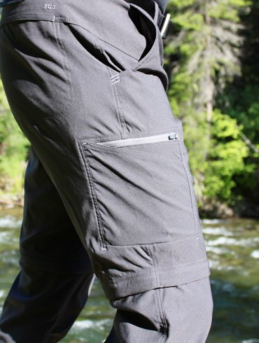 This photo shows the author wearing and testing the Stio Coburn XT Convertible Pants.