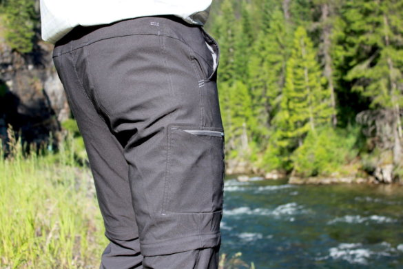 This photo shows the back side of the Stio Coburn XT Convertible Pants.