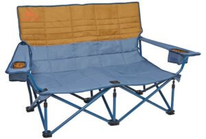 This camping gift for couples photo shows the Kelty Low Loveseat camping chair.