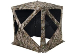 This archery bowhunting gift idea shows the Cabela's The ZonZ Specialist XL Ground Blind.
