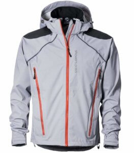 This photo shows the men's Showers Pass Elements Jacket.