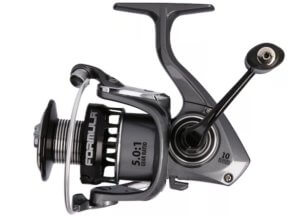 This fishing gift idea photo shows the Bass Pro Shops Formula Spinning Reel.