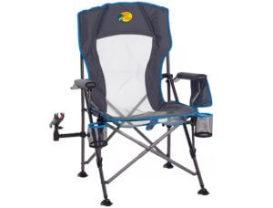 This fishing gift idea photo shoes the Bass Pros Shops Lunker Lounger Fishing Chair.