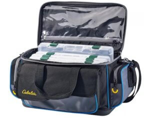 This fishing gift photo idea shows the Cabela's Pro Guide Tackle Bag.