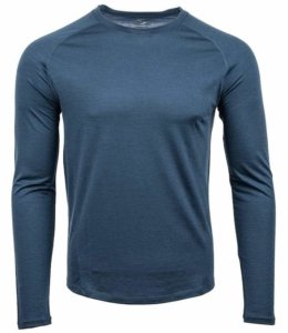 This photo shows the men's long sleeve Showers Pass Apex Merino Tech Shirt.