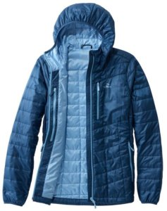This photo shows the women's L.L.Bean PrimaLoft Packaway Hooded Jacket.