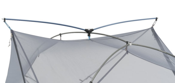 This photo shows the Sea To Summit Tension Ridge tent pole design in the Alto and Telos tents.
